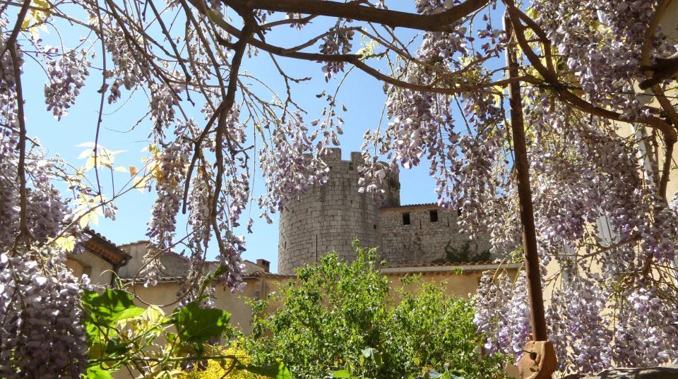 Le château vu de la cour du gîte